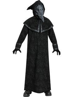 Charming Boys Plague Doctor Costume. Marvelous Collection of Spooky & Horror Costumes for Halloween at PartyBell.
