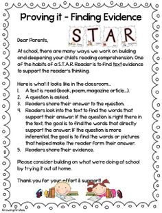 Common Core Reading Workshop - Building S.T.A.R Readers! S=Study T=Think A=Ask R=Respond