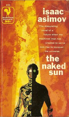 The Naked Sun, art by Richard M. Powers, book cover