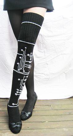 High Elasticity Girl Cotton Knee High Socks Uniform Field Dandelions Women Tube Socks