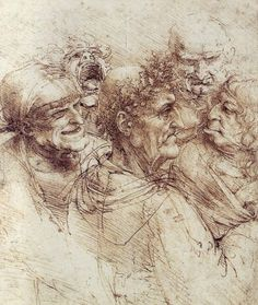 Spanish Proverb: A wise man changes his mind, a fool never will. ~ Five Old Men by Leonardo da Vinci