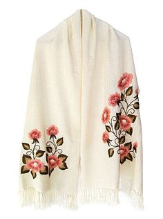 Vintage handmade blouse embroidery Hungarian by macaristanbul Embroidery On Clothes, Embroidered Clothes, Silk Ribbon Embroidery, Crewel Embroidery, Embroidery Patterns, Embroidered Flowers, Hungarian Embroidery, Chain Stitch, Crochet Shawl