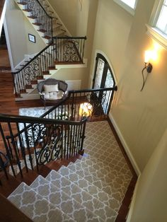 A beautiful install of Taza on the stairs! From Tuftex Carpets of California