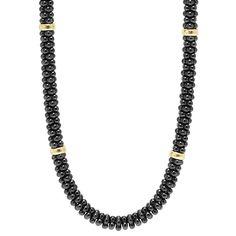 Black & White Caviar Beaded Necklace