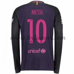Barcelona Nogometni Dresovi 2016-17 Messi 10 Gostujući Dres Dugim Rukavima Komplet