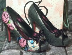 Sugar witch shoes size 9 Iron Fist skull day of the dead, with box! #IronFist #PlatformsWedges