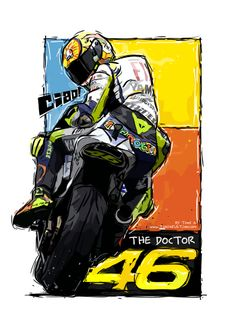 Valentino Rossi (with noises) by Toni A--preview Motorcycle Stickers, Bike Stickers, Motorcycle Art, Motos Yamaha, Ducati, Valentino Rossi Logo, Valentino Rossi Helmet, Motogp Valentino Rossi, Velentino Rossi