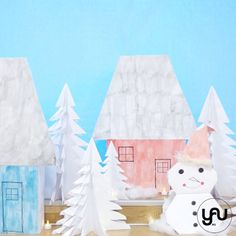 Iarna pe ulita, cu Mos Craciun yau.ro yau concept elena toader Concept, Contemporary, Floral, Flowers, Design, Art, Art Background, Kunst