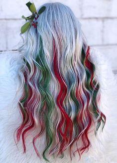 Hair Dye Colors, Cool Hair Color, Balayage Hair, Ombre Hair, Hair Colorful, Pulp Riot Hair Color, Burgundy Hair, Hair Color Highlights, Christmas Hairstyles