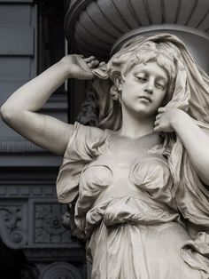 Caryatid Statues in Vienna, Austria
