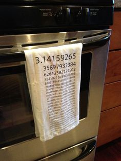 Hey, I found this really awesome Etsy listing at http://www.etsy.com/listing/103480033/pi-kitchen-towel-white-flour-sack