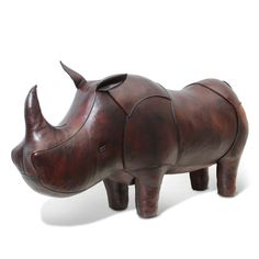 Jonathan Adler Leather Rhinoceros Footstool