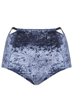 Photo 1 of Crushed Velvet High-Waist Knickers