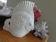 Luscious Mid Century Narrow Fish Pottery Vase by seasearider, $45.00