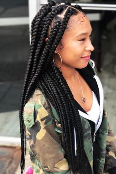 Top 60 All the Rage Looks with Long Box Braids - Hairstyles Trends Box Braids Hairstyles, French Braid Hairstyles, Braided Hairstyles For Black Women, Try On Hairstyles, My Hairstyle, Black Hairstyles, Hairstyle Photos, Goddess Hairstyles, Hairstyles Pictures