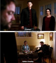 11x02 Form and Void [gifset] - obviously Dean, jeesh - Crowley, Dean Winchester, Supernatural