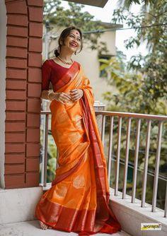 Kanjivaram Sarees Silk, Stylish Blouse Design, Saree Trends, Saree Models, Saree Look, Indian Designer Outfits, Saree Styles, Saree Blouse Designs, Saree Collection