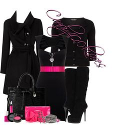 """""""pops of pink!"""" by candy420kisses on Polyvore"""