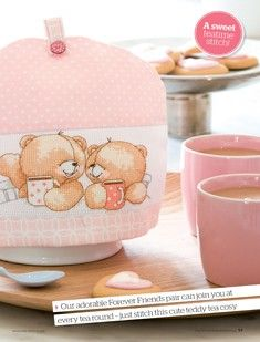 Forever Friends Tea Break by Anchor The World of Cross Stitching Issue 180 Hardcopy