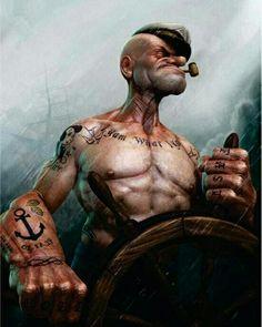 That's Bad Ass #Popeye #Sailor #tattoos  ✏️   #art #toptags #artist @top.tags #artistic #artists #arte #dibujo #myart #artwork  #abstractmybuilding #graphicdesign #design #designer #designed #designs #graphic #graphics #adobe #illustrator