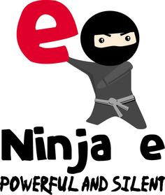 "Ninja e - silent and powerful!! great for ""magic e"" or ""consonant -le"" lessons!"