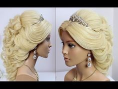 Half up half down hair tutorial. Hairstyles for long hair - YouTube