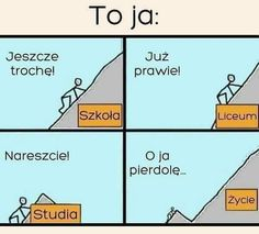 Po co brać leki jak można brać mEmE # Humor # amreading # books # wattpad Wtf Funny, Funny Cute, Hilarious, Stupid Quotes, True Quotes, Funny Images, Funny Pictures, I Hate School, Haha