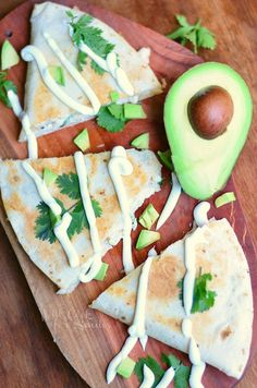 Avocado Chicken Quesadilla — This outstanding recipe is made with grilled chicken, fresh avocado, cilantro, and Monterrey Jack cheese. It's quick, easy, and perfect for lunch or a party appetizer. And the kids will love it!