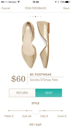 Stitch Fix: BC Footwear Society D'Orsay Flats Click link to try out Stitch Fix | Online Personal Stylists for Women https://www.stitchfix.com/referral/7685525 Fix 7