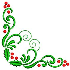 pageborderdesigns   christmas red green page borders design