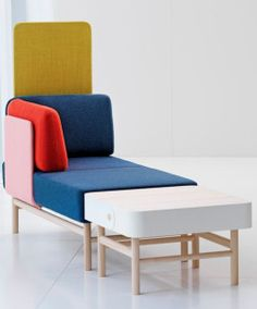 thedesignwalker: Gärsnäs, new functional and aesthetic perspectives - Emily and Pop - contemporary Swedish furniture: Colors Chaise, Colors Full, Design Colors, Aesthetics Perspective, Colour Contemporary, Colors Combinations, Gärsnäs Chairs, Chairs Swedish, Furniture Design