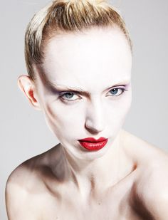 My most recent beauty photo shoot, this shoot was all about the pale skin and blocking out of the eye brows, Lots of contouring was also included to make the cheek bones pop. I blocked out the eye brows using concealer and foundation.