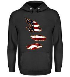 Amerika Flagge T-Shirt Unisex, Hoodies, Sweatshirts, Sweaters, Fashion, Cotton, Moda, Fashion Styles, Sweater