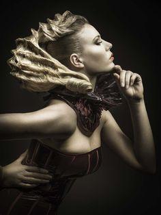 http://www.esteticamagazine.fr/ coiffure : Sandrine Ruiz photo : Duy Ha Minh make up : Carole Petrigno styliste : Charles R Créations modèle : Samantha Verhage