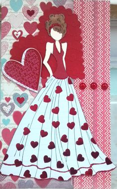 Valentines Doll! This reminds me of a Barbie doll I had in the early 80s!