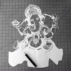 The making of a dream. Stay tuned! #ganesh #stencil #art #namaste #design #yoga #product #yogagear #outdoorgear #onelove