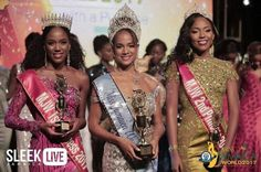 24 years old Solange Sinclair who competed as Miss New Heights Construction and a crowd favourite from the outset, was crowned Miss Jamaica World 2017 during the pageant's grand coronation o… World Organizations, Pageant Crowns, Miss World, 24 Years Old, Beauty Pageant, Jamaica, First Time, Sari, Wonder Woman