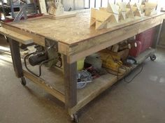 Mobile Workbench rolling table
