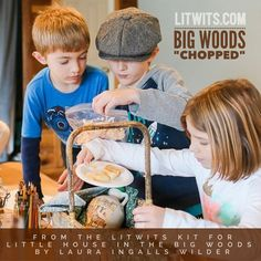 Big Woods CHOPPED!  Oh, the things Ma could make with really weird stuff! Come on over and see how much fun you can have with cracklins and maple syrup! Just click to see the LitWits Kit for LITTLE HOUSE IN THE BIG WOODS by Laura Ingalls Wilder.