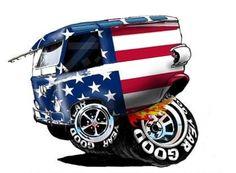 hotrod-cartoons - Home Volkswagen, Vw T1, Car Art, Art Cars, Weird Cars, Cool Cars, Hot Rods, F1 Posters, Cartoon Rat