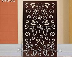 Garden Fence Art, Laser Cut Screens, Cnc Cutting Design, Privacy Panels, Thing 1, Panel Wall Art, Decorative Panels, Custom Metal, Outdoor Rooms