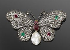 butterfly brooch in Vintage and Antique Jewelry Insect Jewelry, Butterfly Jewelry, Bird Jewelry, Jewelery, Diamond Brooch, Silver Brooch, Diamond Gemstone, Silver Earrings, Victorian Jewelry