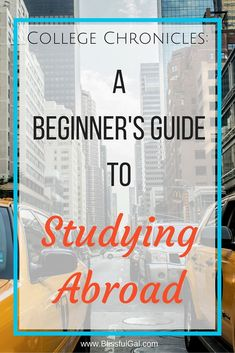College Chronicles: A Beginner's Guide to Studying Abroad