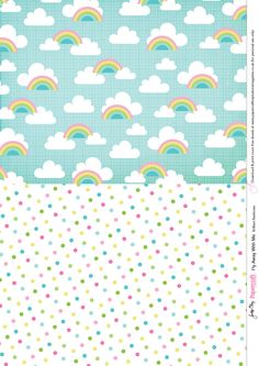 Free printables for card making and scrapbooking background patterns cloud pattern Hot air balloon pattern