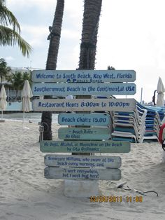 Southernmost Beach Key West- one of my favorite places to spend a day on the beach