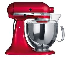 KitchenAid Artisan Stand Mixer - The 'tried-and-tested-everyone-should-have-one' mixer, you'll have spotted it on food sets, on food shoots and in happy kitchens all over the world. Let it walk into your kitchen, and before long it'll crawl into your heart.