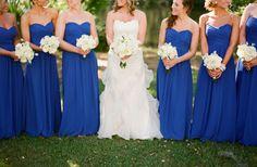 cobalt blue bridesmaids dresses