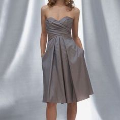Wtoo By Watters And Watters Grey Bridesmaid Dress