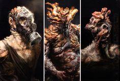 The Infected - art from The last of Us.   These are all very nasty and dangerous mutated humans- ugh!