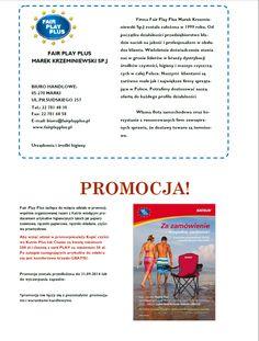 Biuletyn firmy Fair Play Plus Urządzenia i Środki Higieny